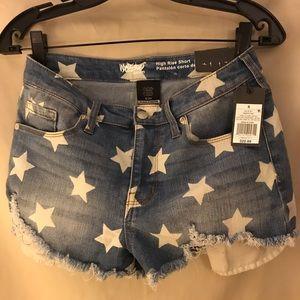 Starry denim shorts